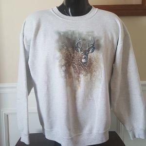 Vtg 90s deer sweatshirt